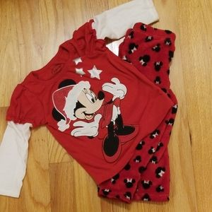 Minnie mouse Christmas pajamas size 18 months